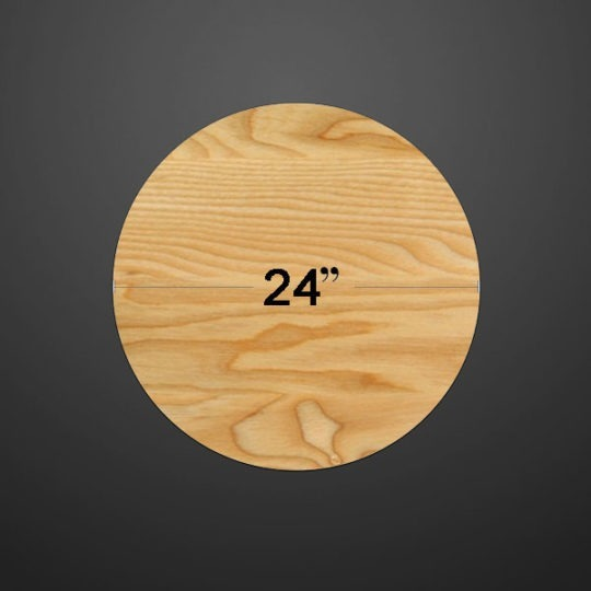 Table Round Wood 24